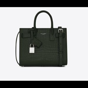 CLASSIC CROCODILE-EMBOSSED LEATHER YSL BAG